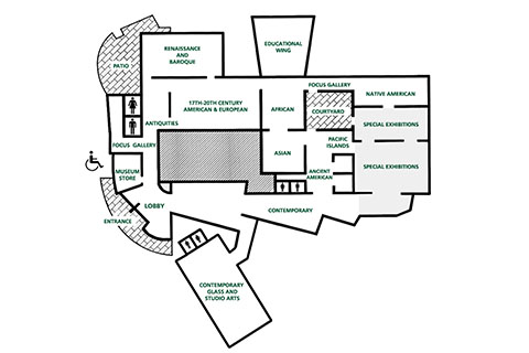 Lowe Art Museum Floor plan
