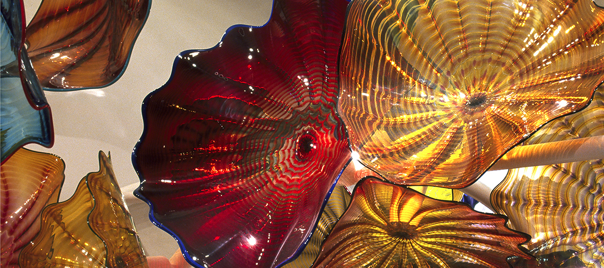Dale Chihuly Mosaic Persian exhibit